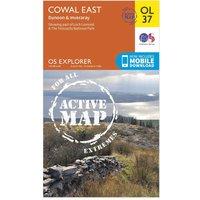 Ordnance Survey Active Explorer OL 37 Cowal East Map, Orange