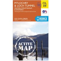 Ordnance Survey Active Explorer OL 49 Pitlochry & Loch Tummel Map, Orange