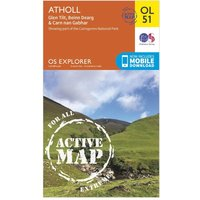 Ordnance Survey Explorer OL 51 Active D Atholl Map, Orange