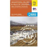 Ordnance Survey Explorer OL 61 Active D Grantown-on-Spey & Hills of Cromdale Map, Orange