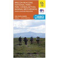 Ordnance Survey Explorer OL 13 Brecon Beacons National Park - Eastern Area Map, Orange