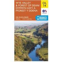 Ordnance Survey Explorer OL 14 Wye Valley & Forest of Dean Map, Orange