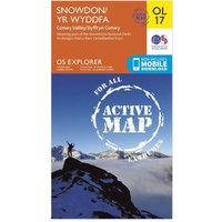 Ordnance Survey Active Explorer OL 17 Snowdon Map, Orange/D