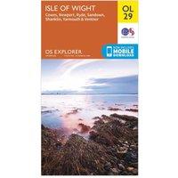 Ordnance Survey Explorer OL 29 Isle of Wight Map, Orange