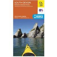 Ordnance Survey Explorer OL20 South Devon Map With Digital Version - Orange, Orange