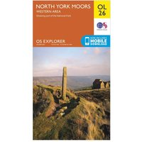 Ordnance Survey Explorer OL 26 North York Moors Map (Western Area), Orange