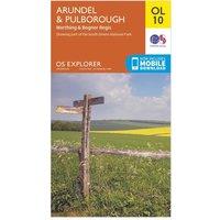 Ordnance Survey Explorer OL 10 Arundel & Pulborough Map, Orange