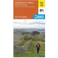 Ordnance Survey Explorer OL 43 Hadrians Wall Map, Orange