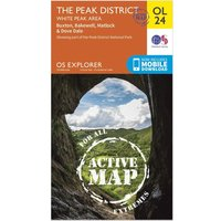 Ordnance Survey Active Explorer OL 24 The Peak District (White Peak Area) Map, D/D