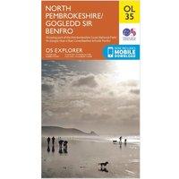 Ordnance Survey Explorer OL 35 North Pembrokeshire Map, N/A