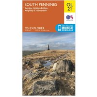 Ordnance Survey Explorer OL 21 South Pennines Map, Orange