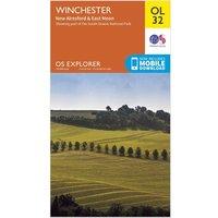 Ordnance Survey Explorer OL 32 Winchester, New Alresford & East Meon Map, Orange