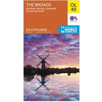 Ordnance Survey Explorer OL 40 The Broads Map, N/A