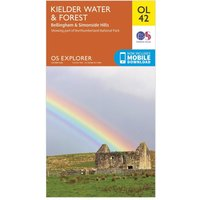 Ordnance Survey Explorer OL 42 Kielder Water & Forest Map, Orange