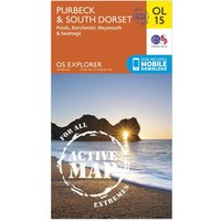 Ordnance Survey Explorer OL 15 Active D Purbeck & South Dorset Map, Orange