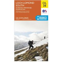 Ordnance Survey Explorer OL 38 Loch Lomond South Map, Orange