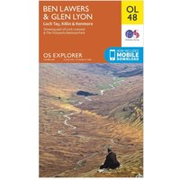 Ordnance Survey Explorer OL48 Ben Lawers & Glen Lyon Map With Digital Version - Orange, Orange