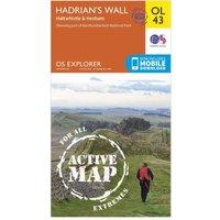 Ordnance Survey Explorer Active OL 43 Hadrians Wall Map, Orange