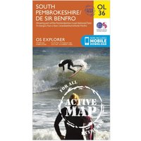 Ordnance Survey Explorer Active OL 36 South Pembrokeshire Map, N/A