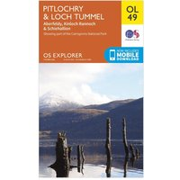 Ordnance Survey Explorer OL 49 Pitlochry & Loch Tummel Map, Orange
