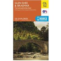 Ordnance Survey Explorer OL 52 Glen Shee & Braemar Map, Orange