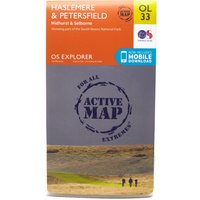 Ordnance Survey Explorer Active OL33 Haslemere & Petersfield Map, Orange