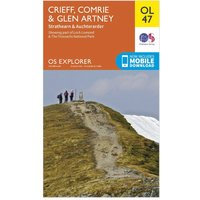 Ordnance Survey Explorer OL 47 Crieff, Comrie & Glen Artney Map, Orange
