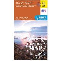 Ordnance Survey Explorer Active OL 29 Isle of Wight Map, Orange