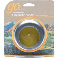 Design Citronella Candle, Silver