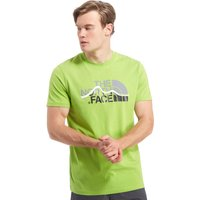 The North Face Mens Mountain Line T-Shirt, Green