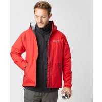 Berghaus Mens Stormcloud Hydroshell Jacket, Red