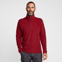 Peter Storm Mens Ullswater Half Zip Fleece, Red