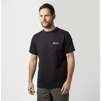 Berghaus Mens Back Block Logo Tee, Black