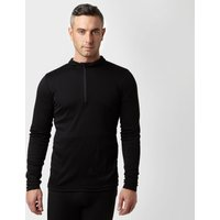 Peter Storm Mens Long Sleeve Thermal Zip Baselayer  Black