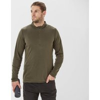 Peter Storm Mens Long Sleeve Thermal Zip Baselayer  Khaki