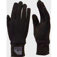 Sprayway Womens Touchscreen Grip Gloves, Black