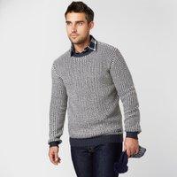 Brakeburn Mens Knitted Crew Jumper, Grey