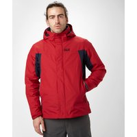 Jack Wolfskin Mens Nansen 3-in-1 Jacket, Red