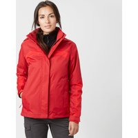 Jack Wolfskin Womens Risco 3 in 1 Jacket, Red