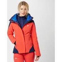 Salomon Womens Icerocket Ski Jacket, Orange