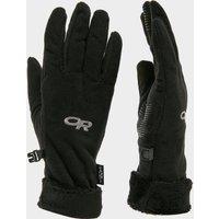Outdoor Research Womens Fuzy Sensor Gloves  Black