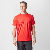 Under Armour Mens UA Tech Short Sleeve T-Shirt, Red
