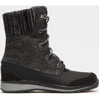 Salomon Womens Hime Mid Snow Boot, Black/Grey