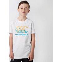 Canterbury Kids Logo T-Shirt, White