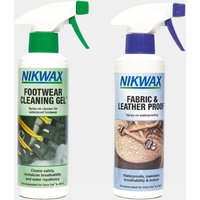 Nikwax Fabric and Leather Reproofer Spray and Footwear Cleaning Gel 300ml Twin Pack - Multi, Multi