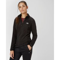 The North Face Womens Glacier Quarter Zip fleece, Black