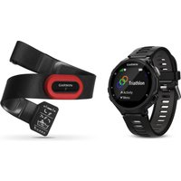 Garmin Forerunner 735XT GPS Multi-Sport Watch Run Bundle - Black, Black