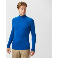 Icebreaker Mens Everyday Long Sleeve Half Zip Baselayer, Blue