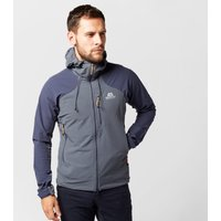 Mountain Equipment Mens Frontier Hooded Soft Shell Jacket, Navy