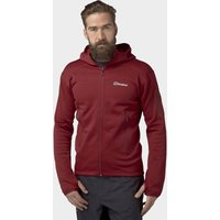 Berghaus Mens Pravitale 2.0 Hooded Fleece, Red